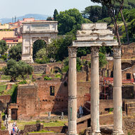 Columns of the forum, foro Romano.