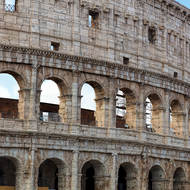 The Colosseum, exterior.