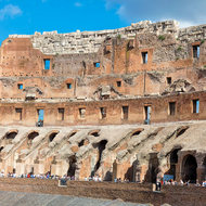 The Colosseum, over the arena and to the westerly end.