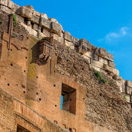 Outer wall of the Colosseum north-east.