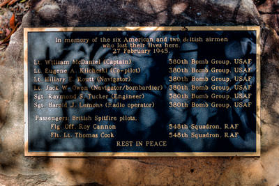 Thumbnail image of Memorial plaque located at B24 Liberator bomber,...