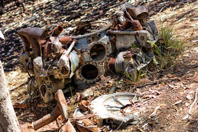 Thumbnail image ofPratt and Whitney radial engine from crashed B24...