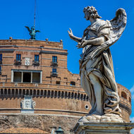 Angel with the nails on Ponte Sant'Angelo.