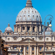 St. Peter's square and St. Peter's Basilica.