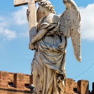 Angel with the cross on Ponte Sant'Angelo.