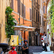 Laneways of downtown Rome.