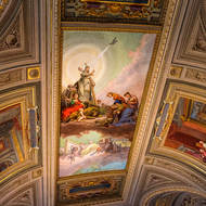 Ceiling fresco in the Vatican museum.