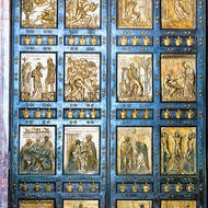 Ceremonial door to St. Peter's Basilica.