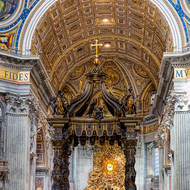 Papal altar and Baldacchino canopy.