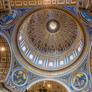 Main dome of St. Peter's Basilica.