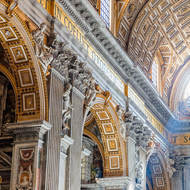 Looking up in St. Peter's Basilica.