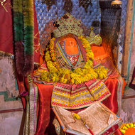 Hanuman shrine.