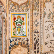 Jas Mandir audience hall wall detail.
