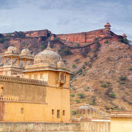 Jaigarh Fort above Amber Fort over the outer wall of Man Singh palace.