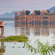 Water Palace, Jah Mahal, in Man Sagar lake.