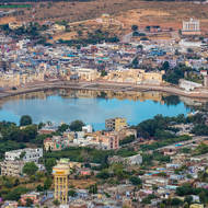 Pushkar Sarovar (Pushkar lake) and surrounds.