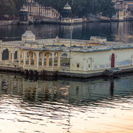 Mohan temple in Lake Pichola.