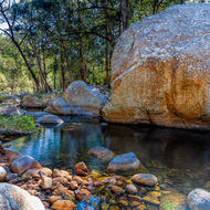 Pool in Mt Barney creek.