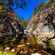 Lower Portals of Mt Barney creek.
