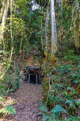Thumbnail image ofHidden Treasure gold mine adit.
