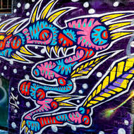 Street art in laneways of Melbourne.