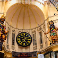 Gog and Magog, timekeepers, Royal Arcade.