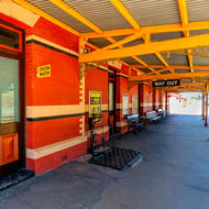 Quiet day at Daylesford railway station.