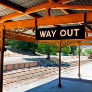 Way out, Daylesford railway station.