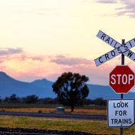 Stop and look for trains.