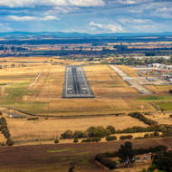 On final for Launceston airport.