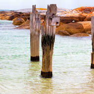Old jetty at Lillies Bay.